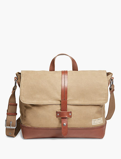 Lucky Waxed Canvas Messenger
