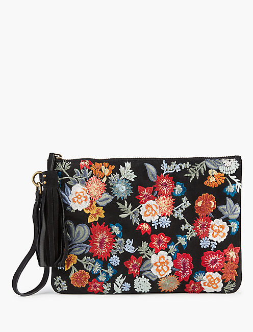 FLORAL EMBROIDERED CLUTCH,
