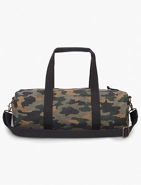 Lucky Waxed Canvas Gym Duffle