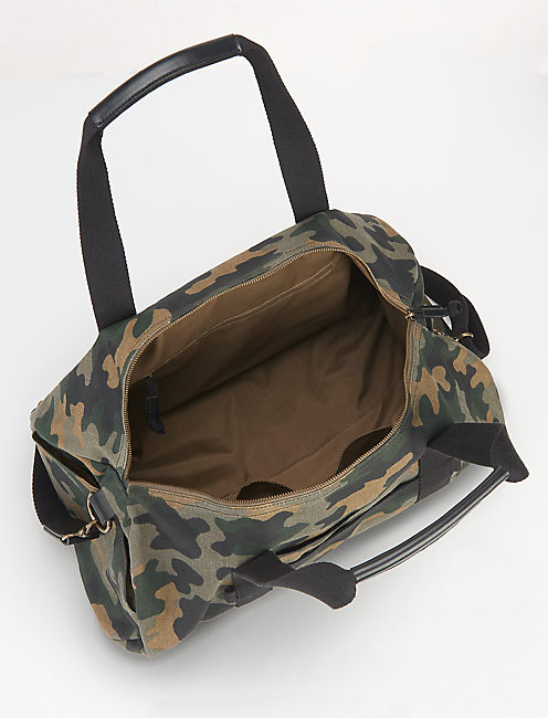 WAXED CANVAS GYM DUFFLE,