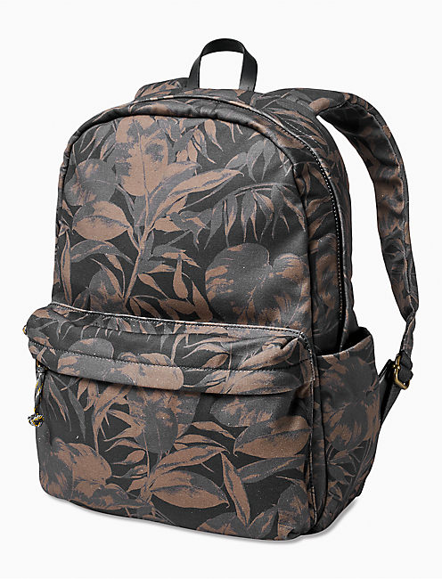 TROPICAL MEN'S BACKPACK, CHARCOAL MULTI