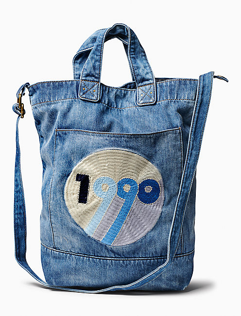 1990 DENIM CROSSBODY TOTE,
