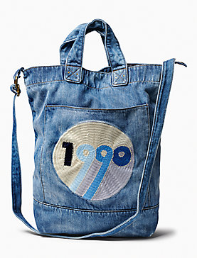 1990 DENIM CROSSBODY TOTE