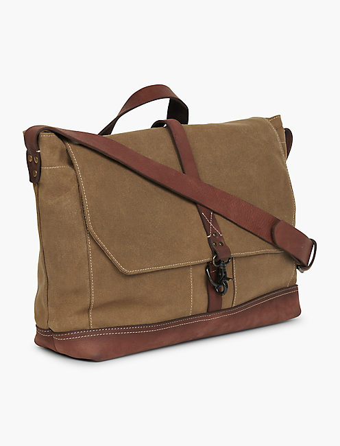 WAXED CANVAS MESSENGER BAG,