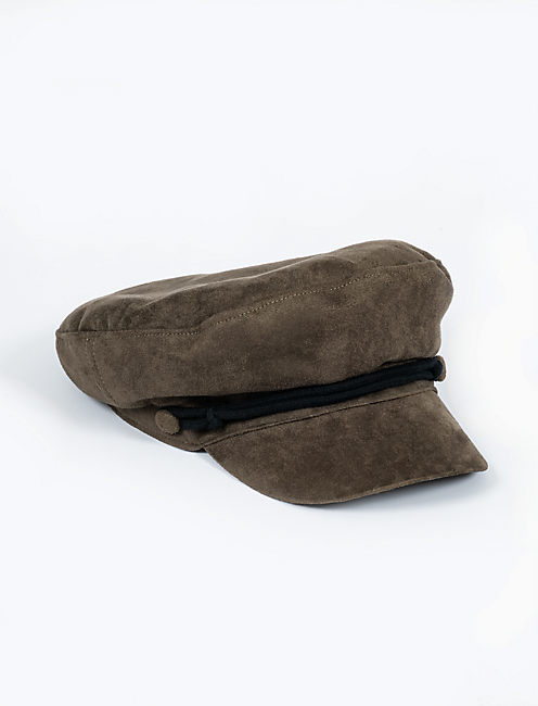 FAUX SUEDE CONDUCTOR HAT,