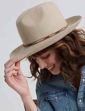 LAYERED TRIM STRAW HAT