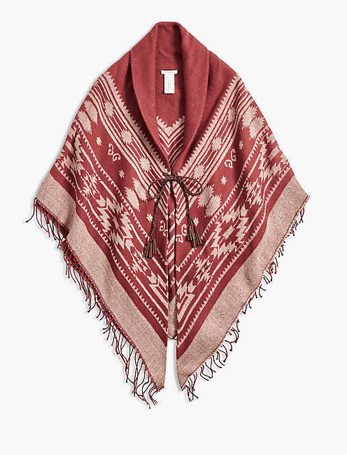 Lucky Rust Fringe Kimono