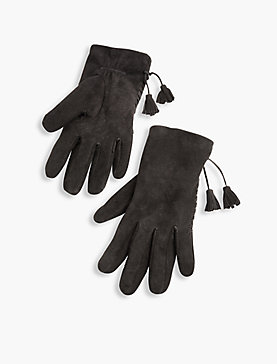 LEATHER TASSEL GLOVE