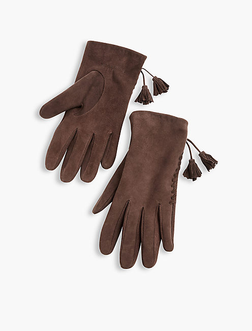 LEATHER TASSEL GLOVE,
