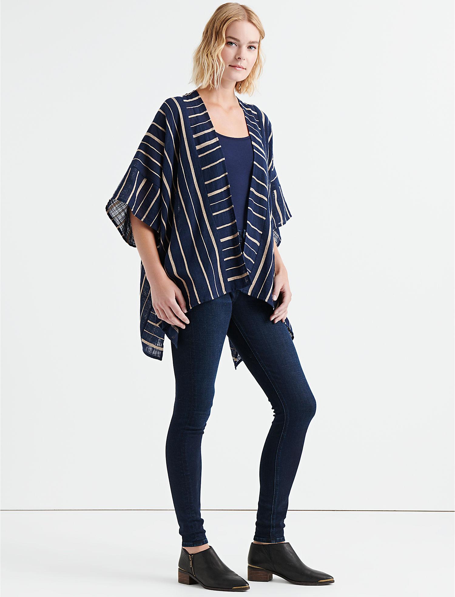 e146dc60c Blocked Stripe Kimono | Lucky Brand
