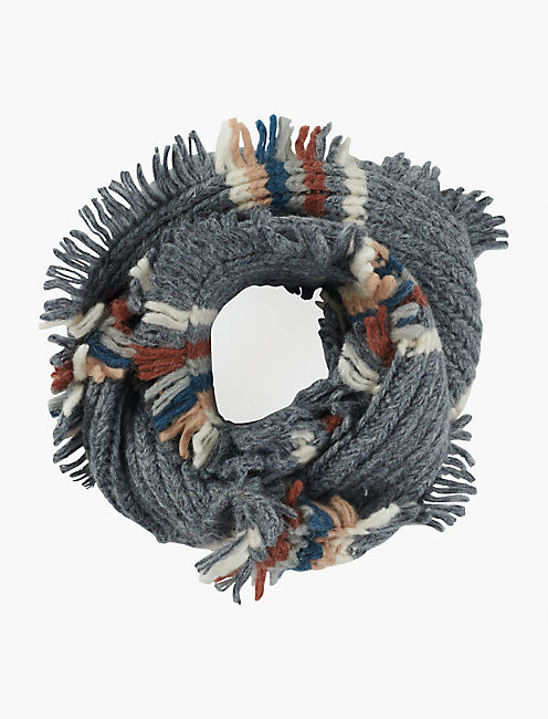 STRIPED LOOP SCARF, MULTI
