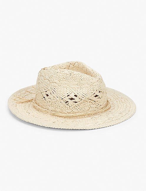 BEAD TRIM PANAMA HAT,