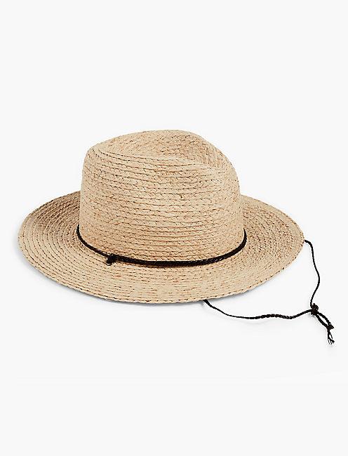 STRAW HAT, TAN