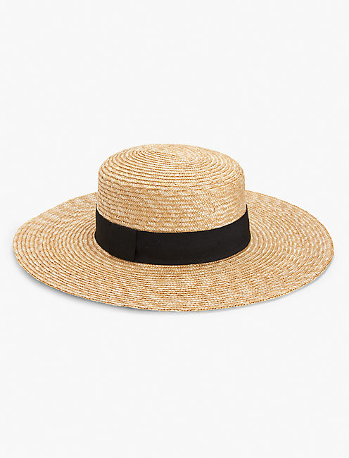 STRUCTURED BOATER HAT, NATURAL