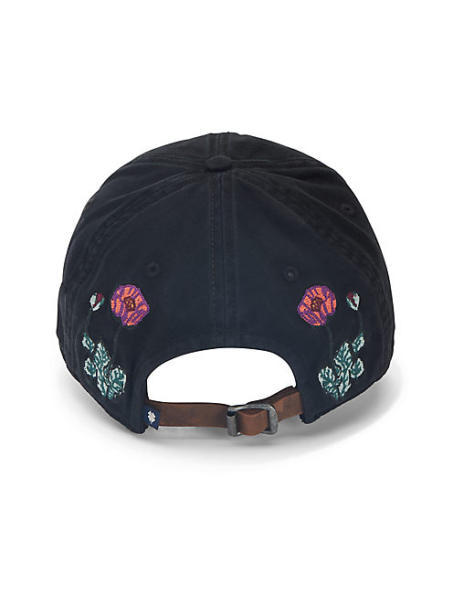 Lot, Stock And Barrel FLORAL SKULL EMBROIDERED BASEBALL HAT,