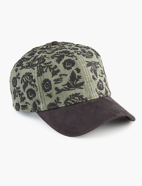 FLORAL EMBROIDERED HAT,