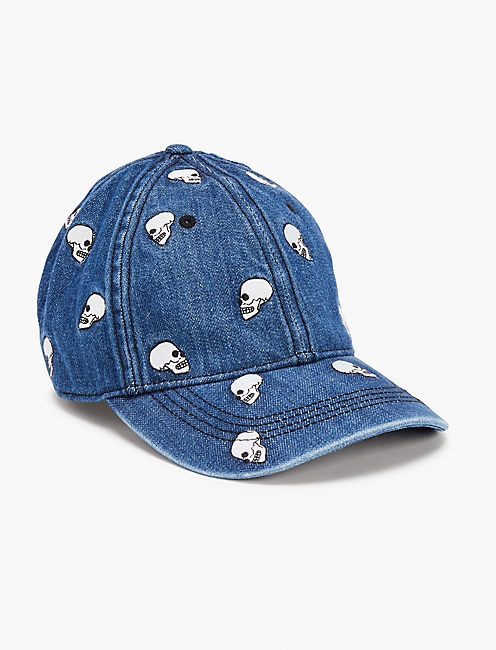 Lot Stock and Barrel SKULL DENIM BASEBALL HAT,