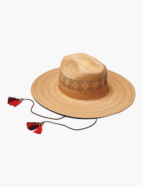 OPEN WEAVE STRAW HAT,