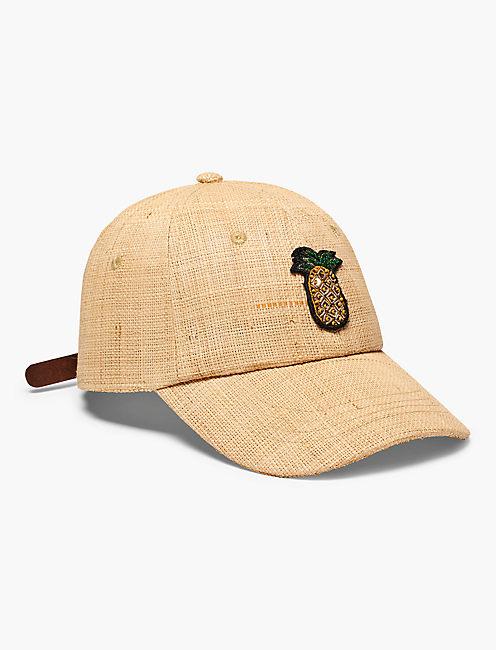 STRAW BASEBALL HAT,