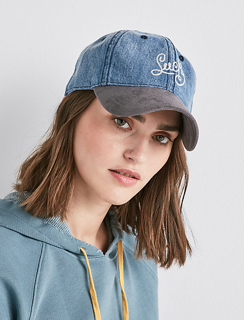LUCKY BRAND BASEBALL HAT, DENIM