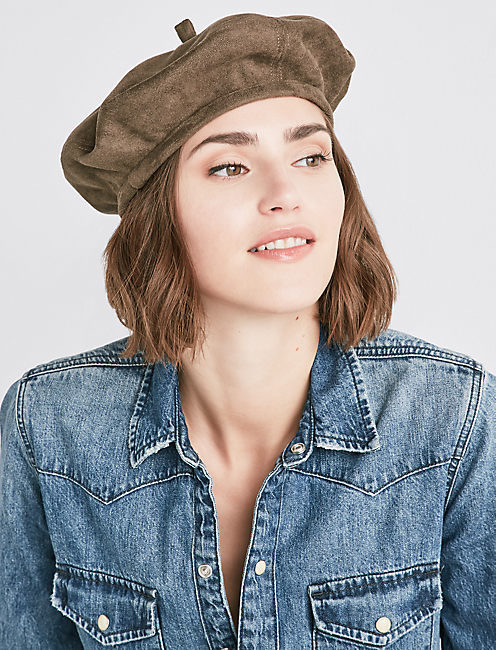 Lucky Faux Suede Beret