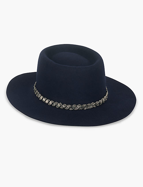 EMBELLISHED BOATER HAT,