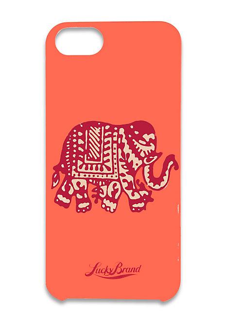 ELEPHANT IPHONE 5, MEDIUM DARK RED