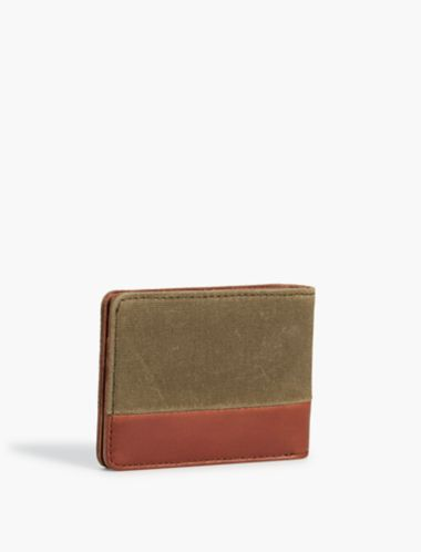 Lucky Canvas Leather Wallet