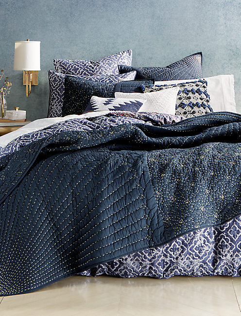 Sashiko Quilt Queen Bedroom Collection,