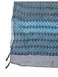 PRINTED PATCHWORK SCARF, BLUE MULTI