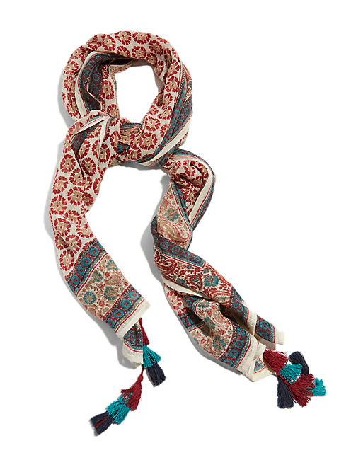 FLORAL SCARF, MULTI