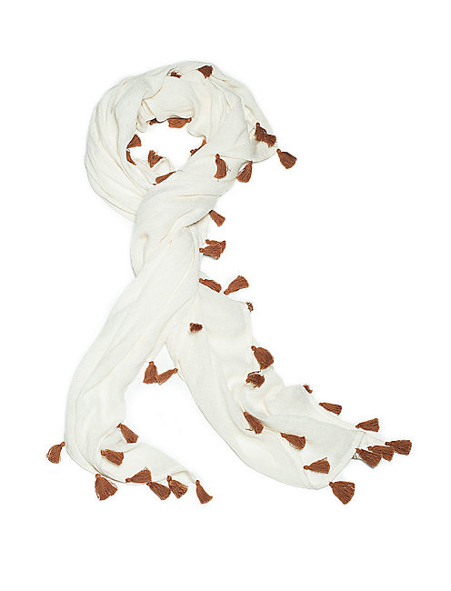 SOLID NOVELTY SCARF, NATURAL
