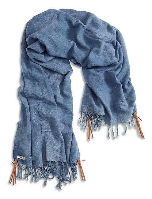 DENIM PONCHO, #458 BLUE