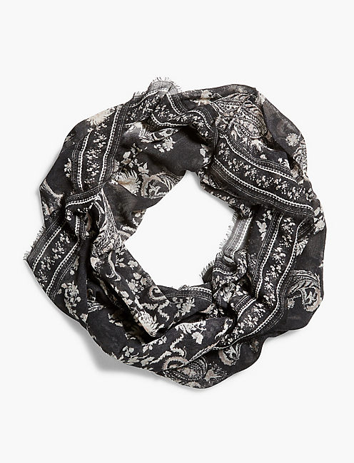 Lucky Paisley Loop Scarf