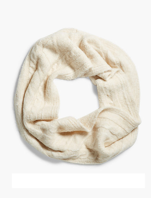 BRUSHED CABLE LOOP SCARF,