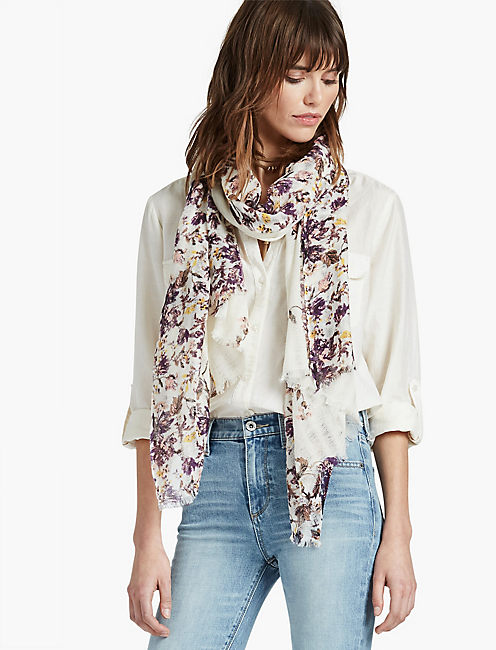 TOSSED FLORAL SCARF,