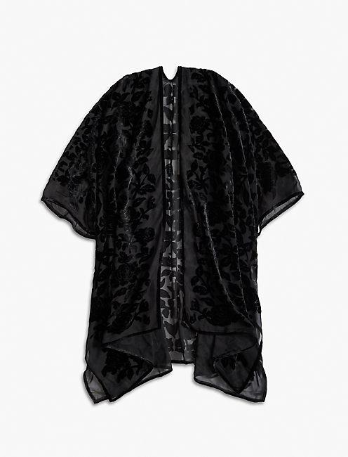 Lucky Floral Burnout Kimono