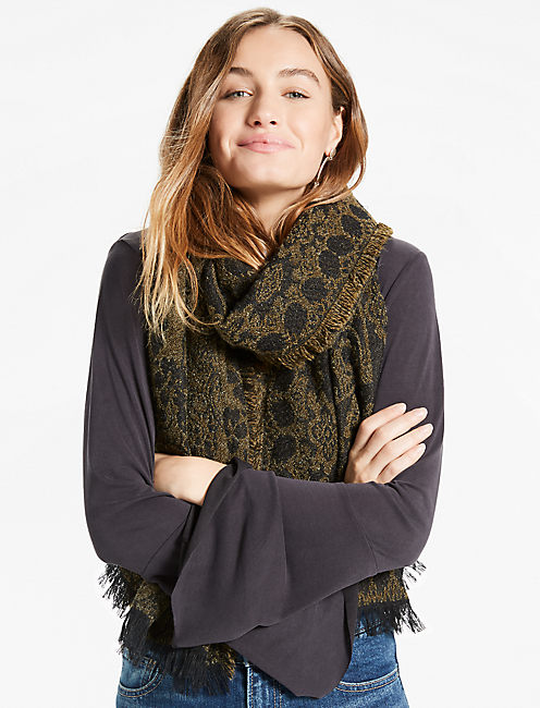 PAISLEY FLORAL SCARF,