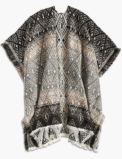 Lucky Ombre Geo Kimono