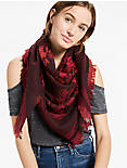 JACQUARD FLORAL SCARF,