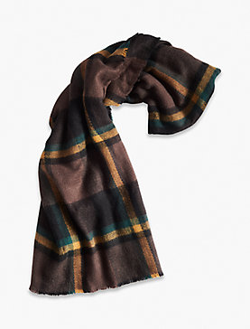BRUSHED PLAID SCARF