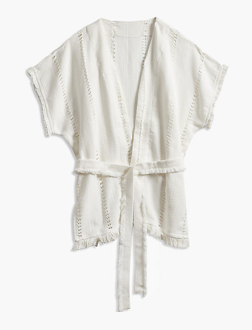 Lucky Open Texture Wrap Kimono