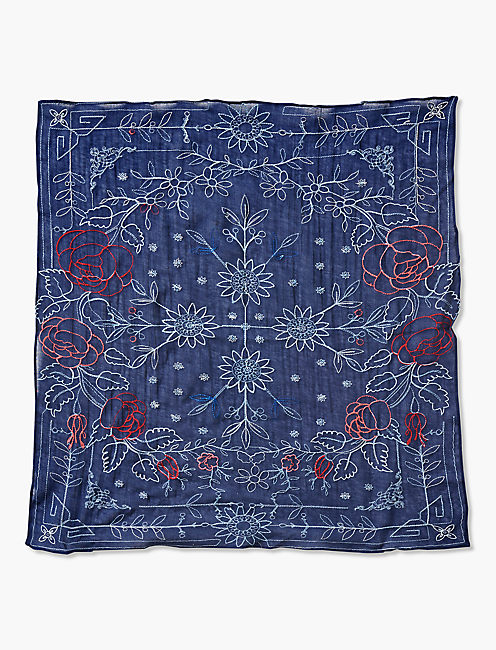 EMBROIDERED BANDANA-MULTI,