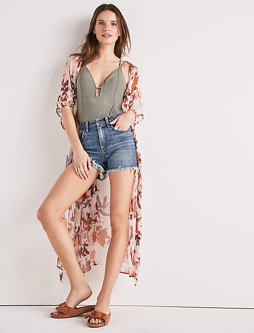 Garden Printed Duster by Lucky Brand