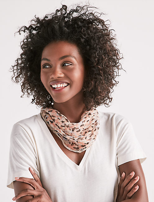 PRINTED DIAMOND SCARF,