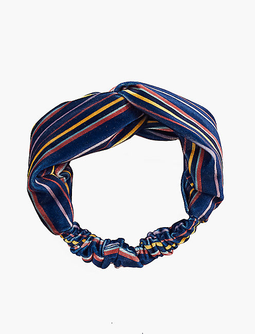 STRIPED VELVET HEADBAND,