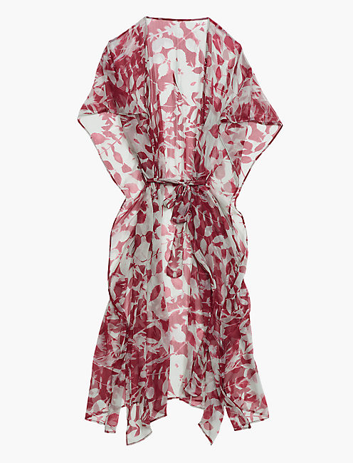 Lucky Sun Printed Leaves Duster