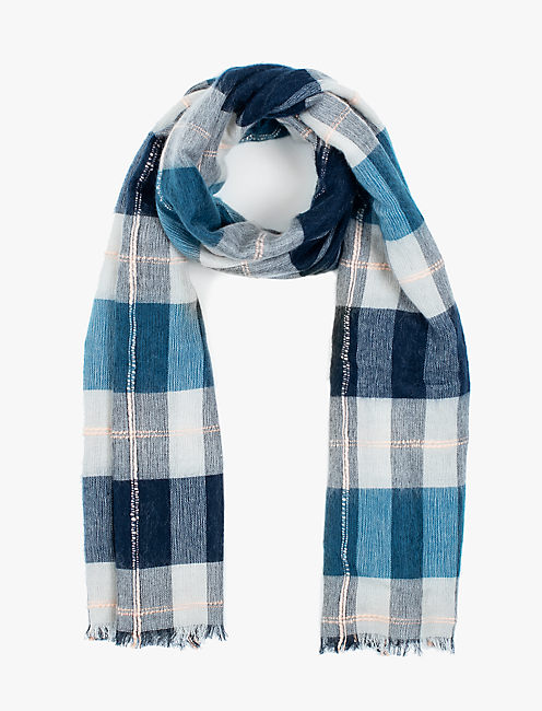 BRUSHED PLAID SCARF,