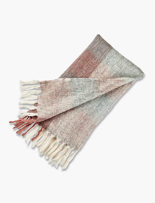 BRUSHED CHECK SCARF,