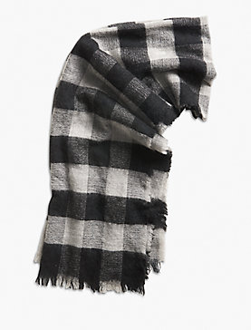 CHECK BRUSHED SCARF